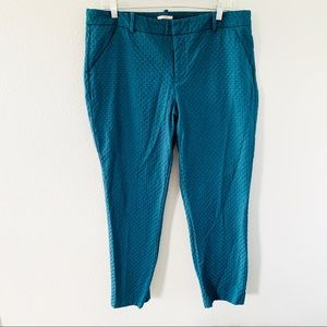 Merona Green Straight Leg Ankle Length Pants Sz 16
